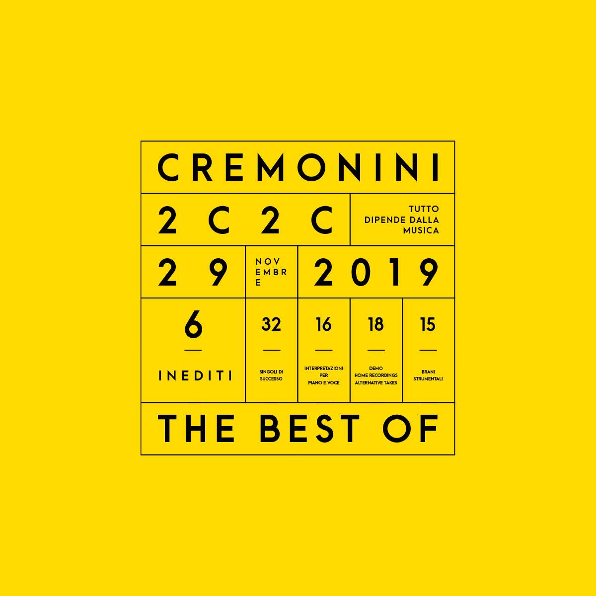 Cesare Cremonini Visual TheBestOf - Design Umberto Angelini