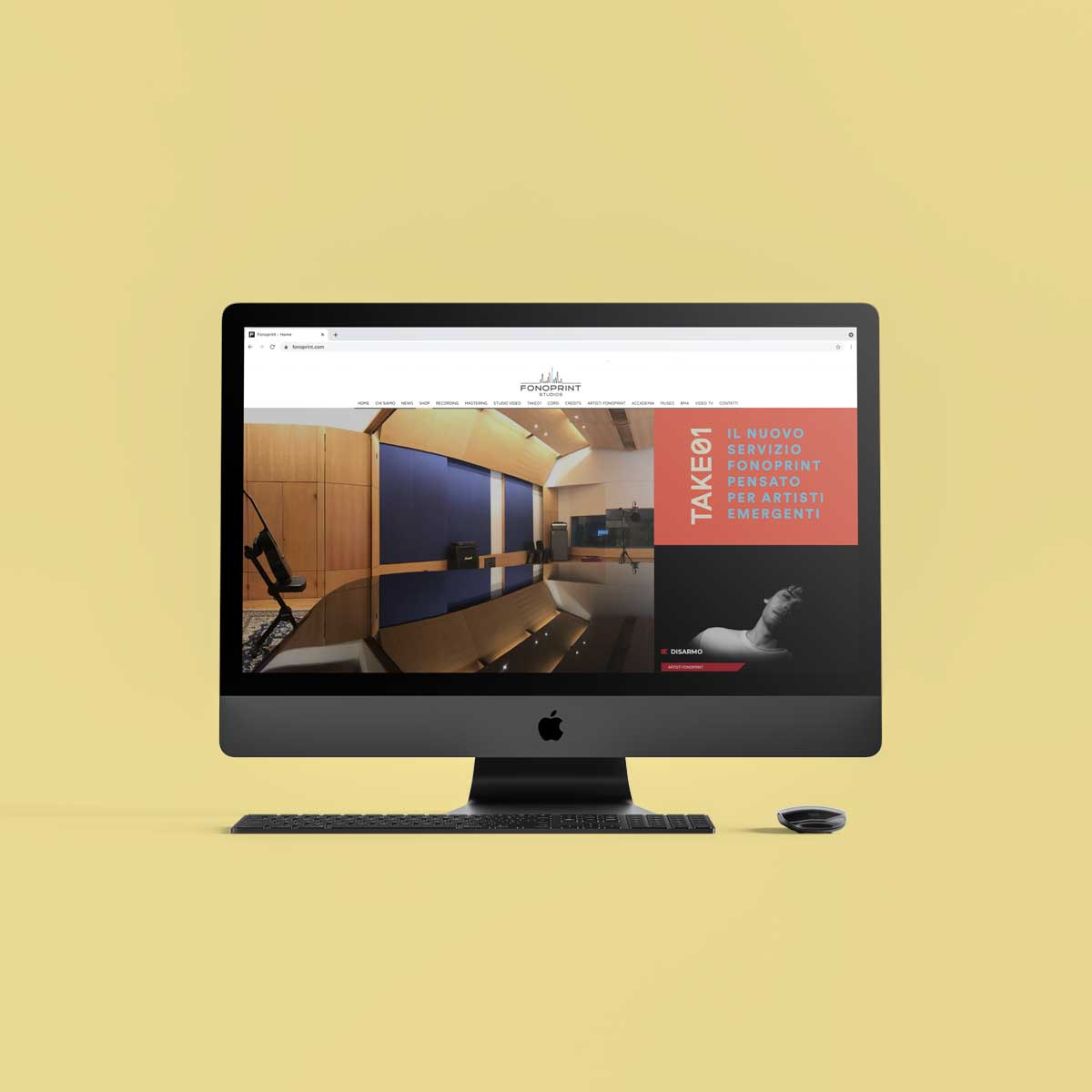 Fonoprint Studios Website - Design Umberto Angelini